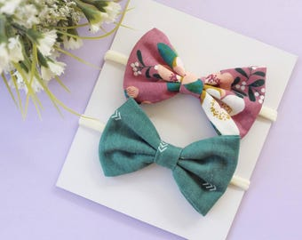 Green Floral Duo   Purple Bows   Green Bows   Coordinating Prints