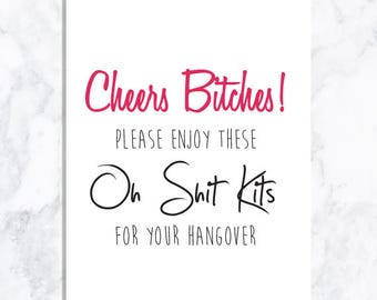 INSTANT DOWNLOAD Hangover Kits Sign