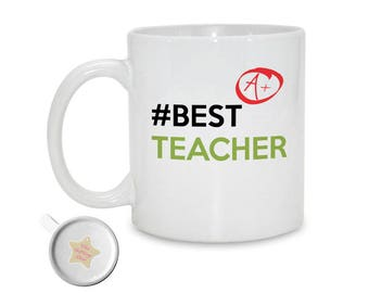 Best Teacher, A+ - Mug | School Leaving Gift | Teacher Appreciation | Thank You Teacher