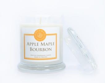 Apple Maple Bourbon 12oz Soy Candle