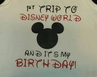 First trip to Disney.