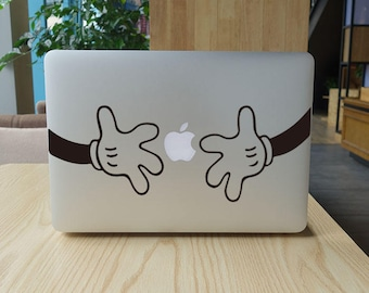 The hand laptop sticker for macbook pro skin macbook sticker macbook air sticker macbook front decal