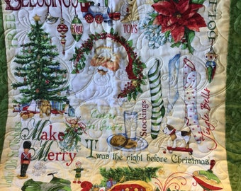 Handmade quilted Christmas wall art