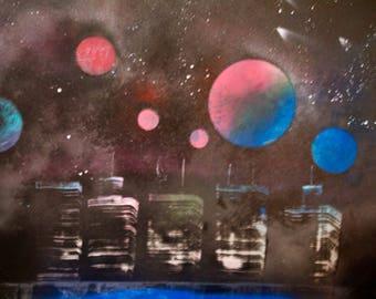 Spray paint art -  Chrome Future
