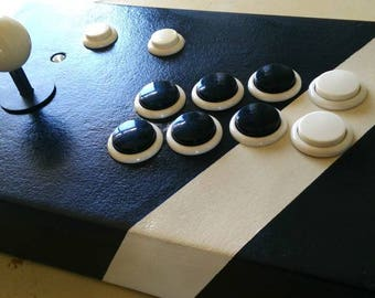 Black arcade joystick for raspberry pi, pc, Xbox 360 and ps3