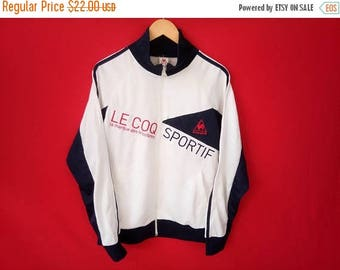 10% sale vintage le coq sportif jacket sport casual medium mens size