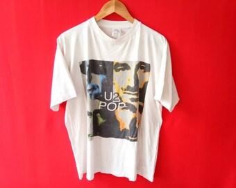 vintage U2 popmart band music concert xlarge tshirt