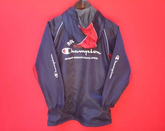 vintage champion windbreakers spellout small size