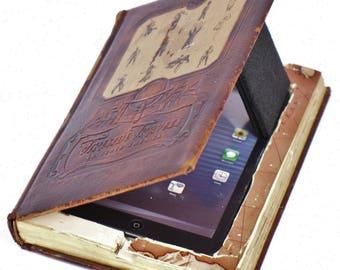 Upcycled Steampunk Ipad Real Book Case for Apple Ipad Mini 4 Ipad Mini 3 2 1