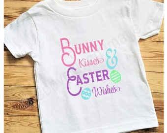Toddler T-shirt - Bunny Kisses and Easter Wishes