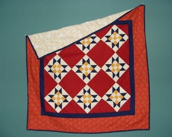 Handmade Lap Quilt, Baby Quilt, Throw Quilt, Blanket, 56 1/2 X 56 1/2 Inches