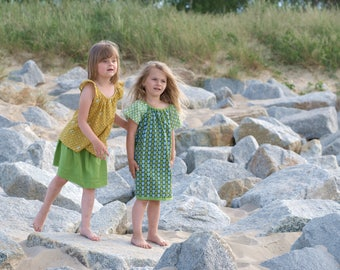 Dress girls dress girls summer dress flower green