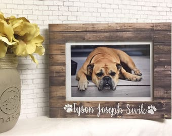Personalized Dog Frame- Dog Loss- Remembrance Frame- Dog Loss Gift- Memorial Frame- Pet Loss Frame- Pet Frame- Pet Memorial- Picture Frame