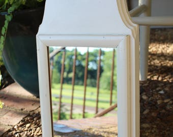 White Decorative Mirror Wooden Vintage Simple Chic Elegant