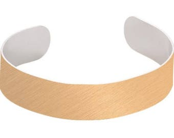 "Gold Plain Bracelets for Sublimation- .875"" x 6.5"""