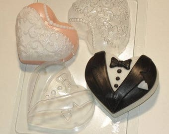 Hearts wedding plastic mold, wedding soap, wedding plastic mold, hearts soap, wedding soap mold, heart soap for wedding