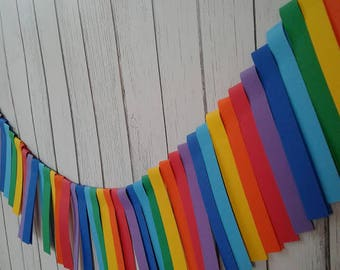 paper garland strips, rainbow garland, rainbow garland birthday, rainbow paper garland, rainbow party, rainbow birthday party, party decor.