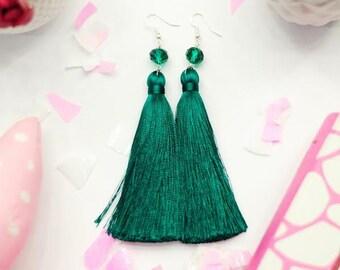 Earrings Sterling silver earrings Fashion jewelry Made to order Green Earrings Earrings Brushes Fashion earrings for women Earrings handmade