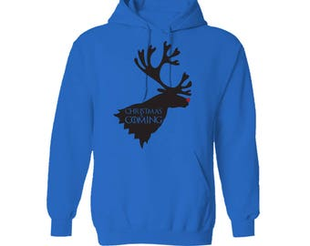 Game of Thrones Christmas is Coming House Stark Motto Christmas Reindeer Hoodie