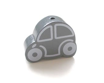Great car - dark grey wooden bead
