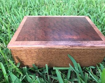 Burl Oak Jewlery Box