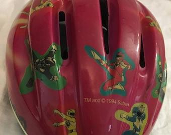 Vintage 1994 power rangers bicycle helmet