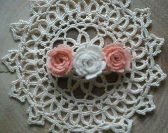 Felt flower Barrette.