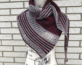 Ready to ship Hand Knit Shawl, Winter Accessory, Wrap, Merino Wool Shawl, Gift for her, Christmas Gift, Hand knit Lace Shawl