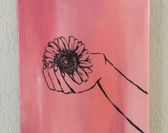 Delicate Hands #2- Acrylic on 8x10 Canvas