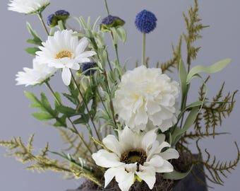 Spring Daisy Flower Arrangement White Daisy  Home Decor Vintage Decorations