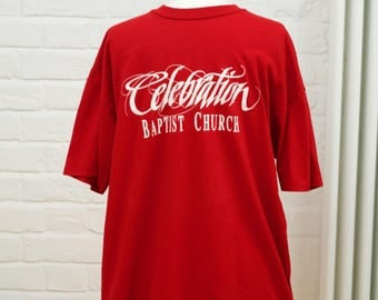 Oversized Red Vintage USA t-shirt