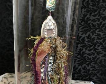 The Castle Weald Tassel Necklace. Boho Tassel, Silver Plate Knife Tassel, Shabby Chic Tassel