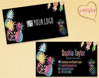 Pineapple Business Cards, Fast Free Personalization and Change, Digital Business Cards,Home Office Business Card,Pineapple Business card