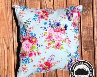 Bright Floral Throw Pillow