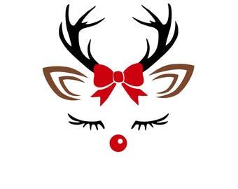 Digi-tizers Reindeer Girl Face (SVG Studio V3 JPG)