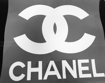 White Chanel inspired iron on transfer appliques