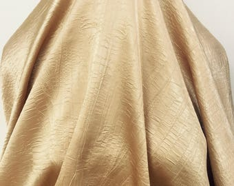 17-256 Gold Crinkle Satin - Sold by the Yard