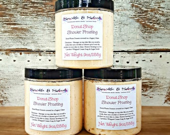 Shower Frosting, Whipped Soap, Whipped Sugar Scrub, Body Soap, Vegan Soap, Bath and Body, Scrub Soap, Cream Soap, Soap Gifts, Sweet Scent