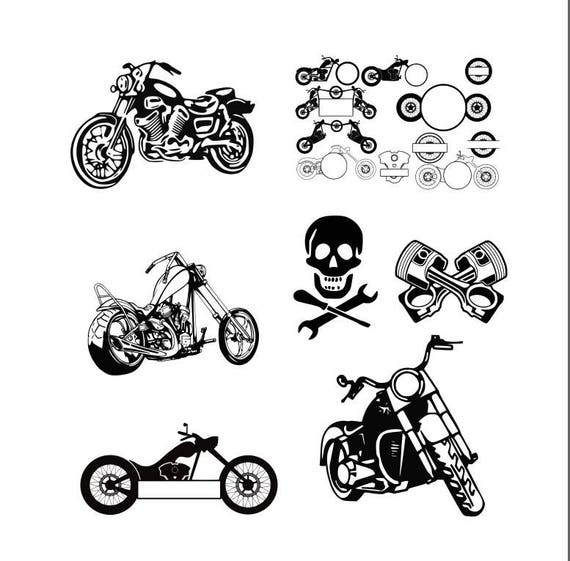 motorcycle svg motorcycle monogram svg decal svg files