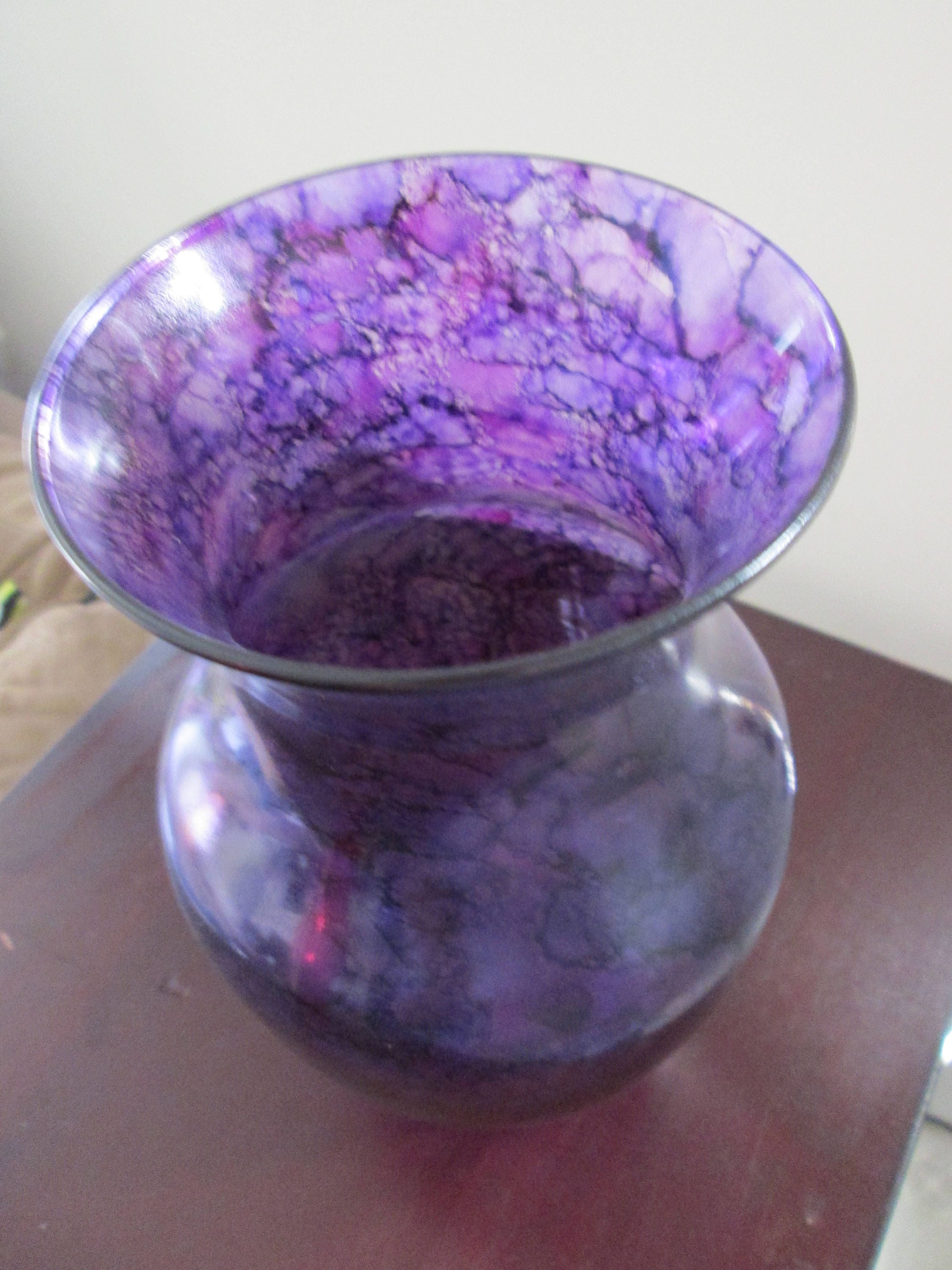 Stained glass vase images vases design picture vase gift purple tall glass vase purple glass vase flower vase vase gift purple tall glass reviewsmspy