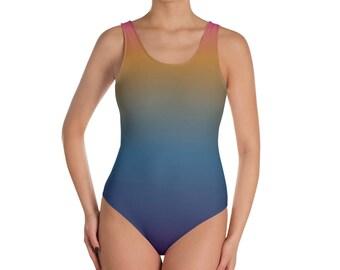 Sunset Fade One-Piece Swimsuit