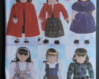Butterick sewing pattern B5587 18in Doll clothes