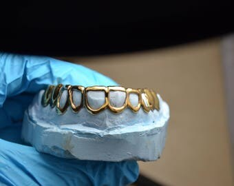 Gold Grillz From the Best.  Custom Made with Dental Gold