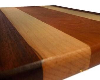 Handmade Wood Cutting Board // Walnut, Cherry & Maple // Chop Board // Wedding Gift