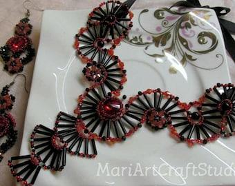 Elegant black-red set