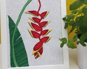 Tropical flower, Heliconia rostrata