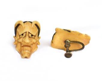 1950s Vintage Satan Earrings