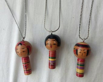Kokeshi Necklaces