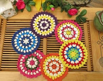 Handmade Crochet doily/placemat coasters/placemat set/place mats/doilies crochet - 4 pcs/set