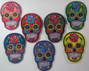 Sugar Skull - Iron on Patch